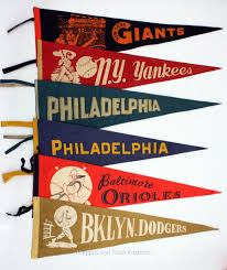 Yankee Flags 101008a Vintage Yankees Pennant Jpg 1800 2145 Sports