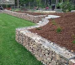Retaining Wall Ideas For Sloped Backyard 99 Best Gabion Images On Pinterest Gabion Wall Gabion Fence And