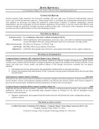 technical resume templates technical resume exles building of tutorial computer repair