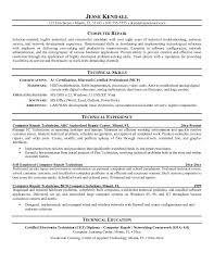 technical resume exles technical resume exles building of tutorial computer repair