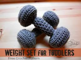 Weight Bench Set For Kids This Crochet Weight Set Is Great For When Your Kids Want To