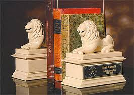 bookends lion marble granite awards marble bookends
