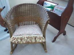 old wicker rocking chair images