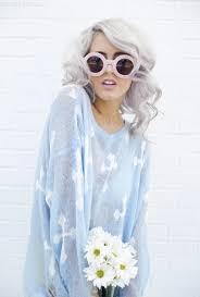gray hair fad silver hair fashion cute hair girl hipster white gray style model