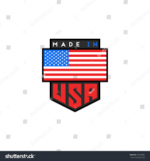 Flags Made In Usa Made Usa Logo Design American Quality Stock Vector 768769882
