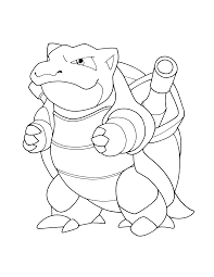 pokemon coloring pages blastoise coloring page