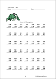 3 digit subtraction with regrouping worksheet worksheets