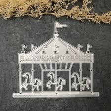 Cutting Dies For Card Making - christmas kids sport carousel embossed model diy cutting dies for