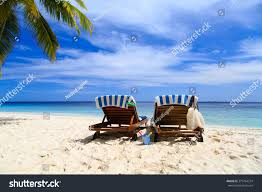 Two Beach Chairs Two Chairs On Tropical Beach Stock Photo 373764274 Shutterstock
