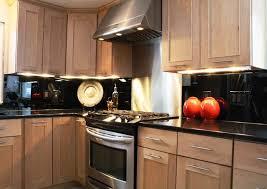 black mirror backsplash contemporary kitchen providence mirror