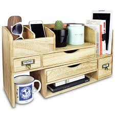 Desk Organizer Shelf Ikee Design Adjustable Wooden Desktop Organizer
