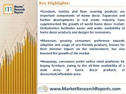 Home Decor Industry World Home Decor Market Opportunities And Forecasts 2014 2020
