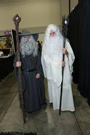 Gandalf Halloween Costume Saruman White Turned Sides