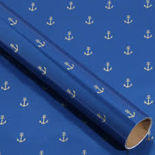 blue foil wrapping paper anchor 3m roll wrapping paper