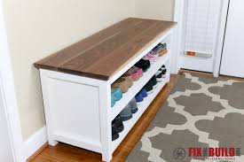Wood Storage Bench Diy by Bedroom Excellent Bench And Shoe Storage Wooden Entryway Inside
