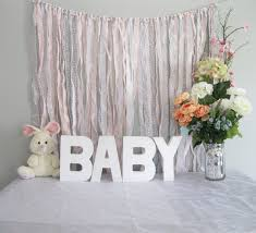 ribbon backdrop shabby baby shower backdrop photobooth
