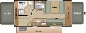 Rv Floor Plan by Travel Trailer Floor Plan 2018 Launch Outfitter 7 16rb