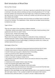 Types Of Ventilators Brief Introduction Of Wood Door