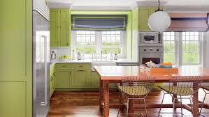 kitchens with shelves green using color in the kitchen coastal living