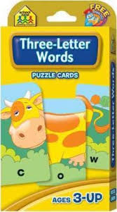 puzzle cards three letter words zone 9780887432774