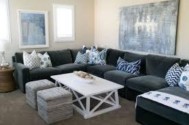 gray velvet sectional sofa centerfieldbar com