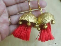 punjabi jhumka earrings punjabi thread jhumkas piercing earrings ear jewelry