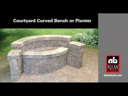 How To Make A Curved Bench Seat How To Build A Courtyard Curved Bench Or Planter Youtube