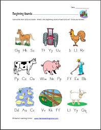 beginning letter sound worksheet worksheets