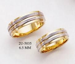 designer wedding rings 14k gold two tone designer wedding band ring