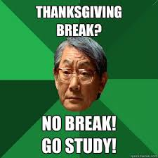 thanksgiving no go study high expectations asian