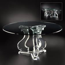 acrylic dining table base allan knight acrylic chambord dining table tripod k27449k