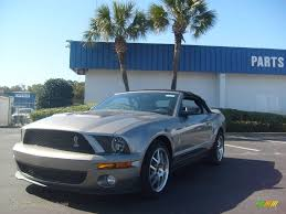 Mustang Shelby Gt500 Black 2009 Ford Mustang Shelby Gt500 Convertible In Vapor Silver