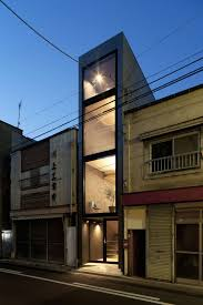 Small Narrow House Plans Into Thin Architecture 1 8 Width House Makes Most Of Narrow Lot