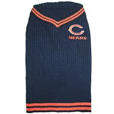 amazon com pets first nfl chicago bears v neck dog sweater x