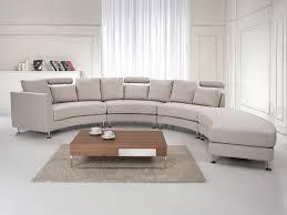 Curved Sectional Sofa Curved Sectional Sofa Beige Fabric Rotunde Beliani