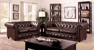 Chesterfield Leather Sofa by Stanford Leatherette Sofa