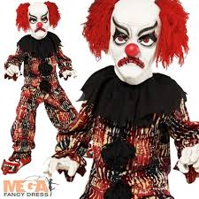 scary clown boys halloween fancy dress costume mask kids