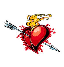 heart arrow u0026 tattoo vector images over 210