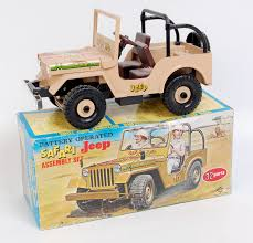 safari jeep daiya of japan plastic and battery operated safari jeep tan body