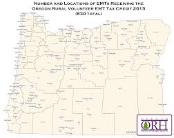 Map Of Astoria Oregon by Oregon Rural Volunteer Ems Provider Tax Credit Oregon Office Of