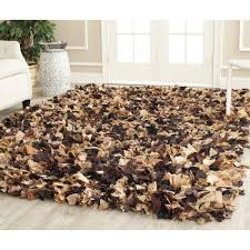 Modern Shaggy Rugs Floors Rugs Cozy Solid Brown Shaggy Rugs For Modern Living Room