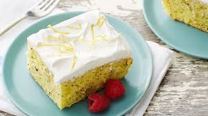 lemon poppy seed poke cake recipe bettycrocker com