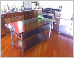 black kitchen island with stainless steel top stainless steel kitchen island bench home design ideas