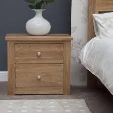 two drawer bedside table kingston solid oak bedroom furniture two drawer wide bedside cabinet