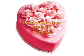 pink heart cake 2 kg cake delivery gurgaon online delivery delhi