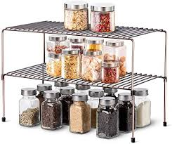 cabinet storage in kitchen wosovo expandable stackable cabinet shelf kitchen counter rack organizer multipurpose pantry bedroom bathroom storage racks 2 pack