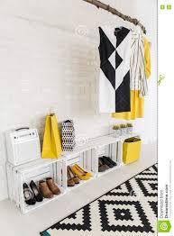creative ideas for modern woman u0027s hall storage space stock photo