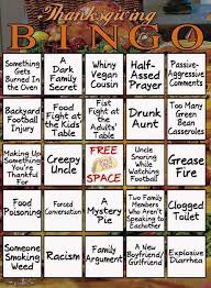 mocking words thanksgiving bingo