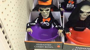 scary halloween candy bowl menards halloween 2016 animated skeleton u0026 reaper candy bowls