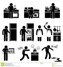 pictogramme cuisine gratuit homme faisant cuire le lavage au pictogramme de cuisine illustration